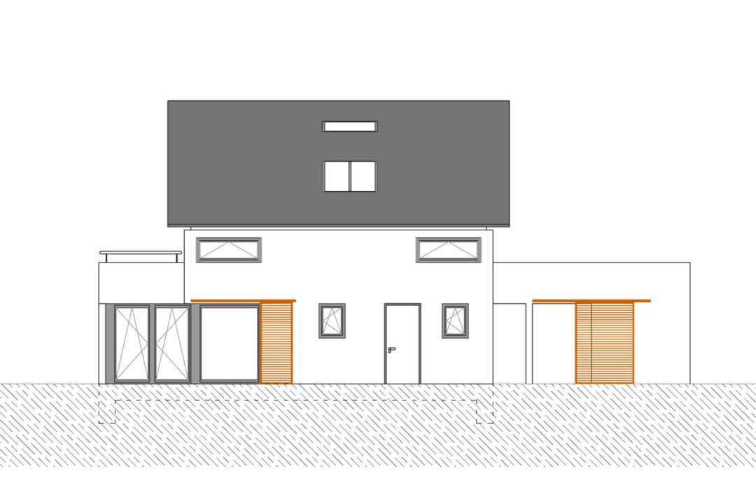 Entwurf für ein Einfamilienhaus in Hochstätten