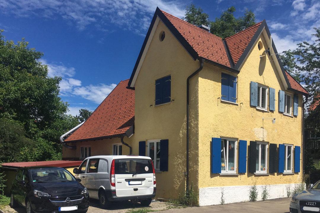 Altes Haus vor dem Abriss in Kempten-Stiftsstadt