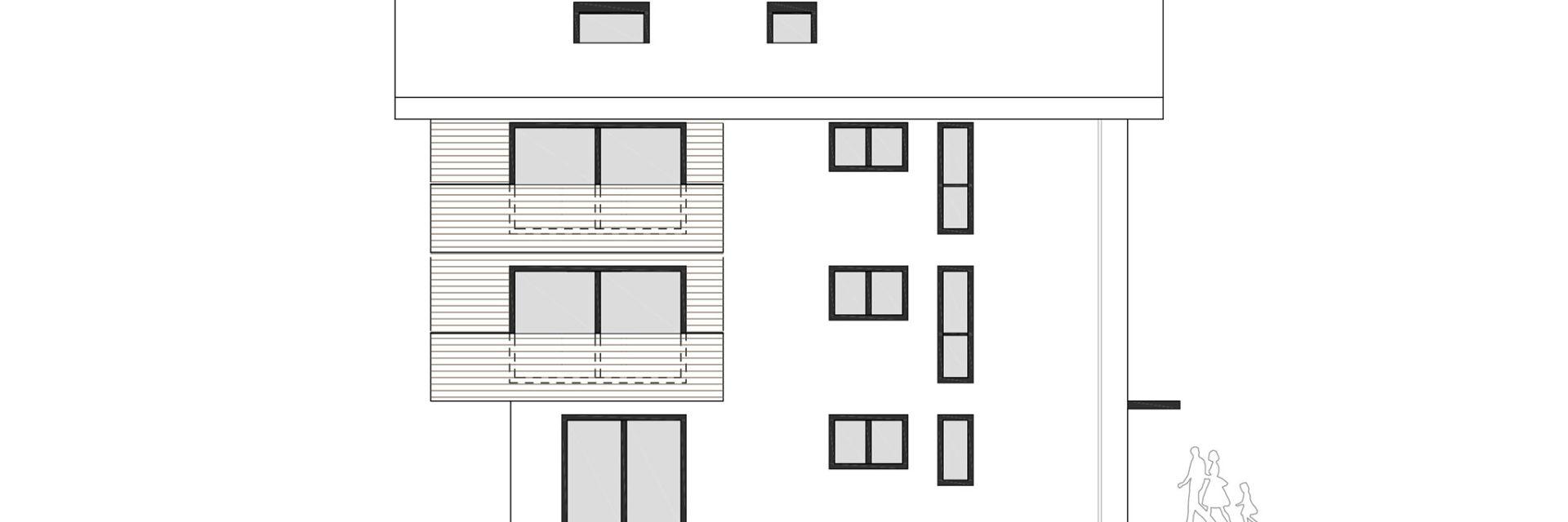 MFH Entwurf KE Stiftsstadt Ansicht