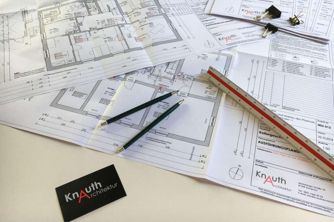 Grundriss eines Architekturplans von KanuthArchitektur